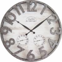 FirsTime Shiplap Outdoor Wall Clock - Light Gray