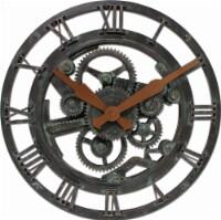 FirsTime® Oxidized Gears Wall Clock - Black