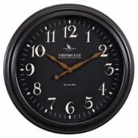 FirsTime Belmont Round Clock - Black - 17.5 in