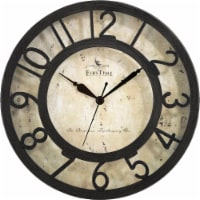 FirsTime & Co. Raised Number Wall Clock - Brown