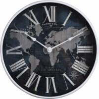 FirsTime Atlas Clock - Navy - 12 in