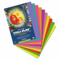 """Tru-Ray Construction Paper - Project - 12"""" x 9"""" - 50 / Pack - Salmon - Sulphite"""