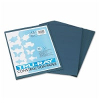 Pacon Tru-Ray Construction Paper, 76lb, 9 X 12, Slate, 50/Pack 103028 - 1
