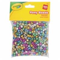 Crayola Metallic Pony Beads - Assorted - 400 pk