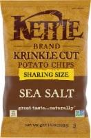 Kettle Brand Sea Salt Krinkle Cut Potato Chips Sharing Size
