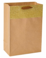 American Greetings Kraft Gold Gift Bag