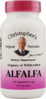 Christopher's Alfalfa Vegetarian Capsules 410mg