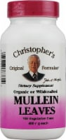 Christopher's Mullein Leaves Vegetarian Capsules 400mg