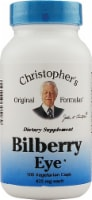 Christopher's Bilberry Eye Vegetarian Capsules 435 mg