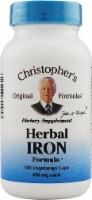 Christopher's Herbal Iron Formula Vegetarian Caps 450mg