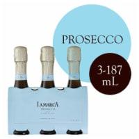 La Marca Prosecco Sparkling Wine 3 Single Serve 187ml Bottles