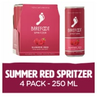 Barefoot Spritzers Summer Red Sweet Red Wine in a Can 4 Pack