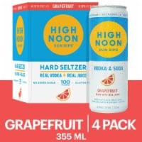 High Noon Grapefruit Vodka Hard Seltzer 4 Single Serve 355ml Cans