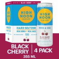 High Noon Black Cherry Vodka Hard Seltzer 4 Single Serve 355ml Cans