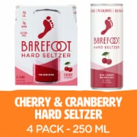 Barefoot Wine Hard Seltzer Cherry & Cranberry 4 single serve 250ml Cans