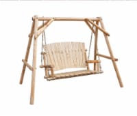 Leigh Country Aspen Series Porch Swing - Natural