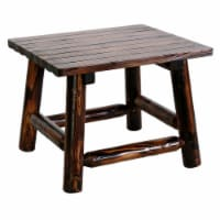 Leigh Country Char-Log Side Table - Brown