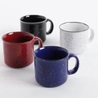 Gibson Home Altaic Speckled 17 Ounce Enamelware Coffee Mug Assortment, Set of 4 - 1 Unit