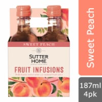 Sutter Home® Fruit Infusions Sweet Peach White Wine - 4 bottles / 187 mL