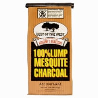 Best of the West Mesquite Natural Hardwood Lump BBQ Grill Charcoal, 15.40 Pounds - 1 Unit