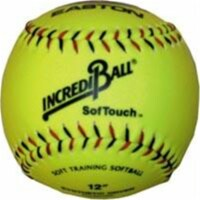 Olympia Sports BA135P Incrediball 12 in. Softouch Softball - Yellow - 1