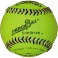 Olympia Sports BA137P Incrediball 11 in. Softstitch Softball - Yellow - 1