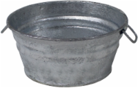Behrens Hot Dipped Steel Low Flat Tub - Silver