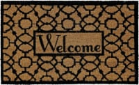 Mohawk Home Oriented Pattern Welcome Doormat - Black