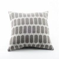 Arlee Home Fashions Enzo Moonrock Decor Pillow - Gray