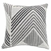 Arlee Home Fashions Chevron Peak Decor Pillow - Gray - 18 x 18 in