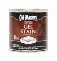Old Masters  Semi-Transparent  Vintage Burgundy  Oil-Based  Alkyd  Gel Stain  0.5 pt. - Case - Count of: 1