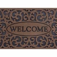 buyMATS 60-890-5403-01800030 18 x 30 in. Veldura Welcome Iron Mats, Brown - 1