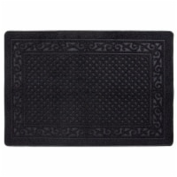 buyMATS 91-673-5402-03100045 31 x 45 in. Grand Impressions Scroll Trellis Mats, Black - 1