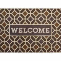 buyMATS 60-840-5402-01800030 18 x 30 in. Sculptures Welcome Geo Wood Stone Mats, Multi-Color - 1