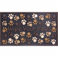 buyMATS 60-730-5499-01800030 18 x 30 in. Masterpiece Wipe Your Paws Mats, Brown - 1