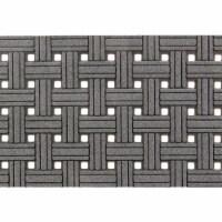 buyMATS 60-788-5403-01800030 18 x 30 in. Veldura Basket Weave Mats, Granite - 1