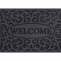 buyMATS 60-890-5404-01800030 18 x 30 in. Veldura Welcome Iron Mats, Granite - 1