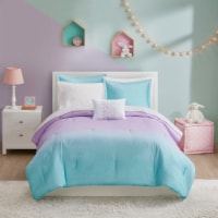 Moonbeams Glimmer Comforter - Purple/Blue - Twin