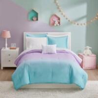 Moonbeams Glimmer Comforter - Purple/Blue