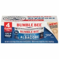Bumble Bee Solid White Albacore Tuna in Water - 4 ct / 5 oz