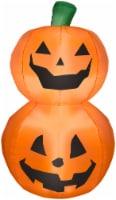 Gemmy Airblown Stacked Pumpkin - Orange