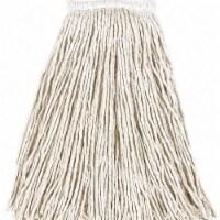 Rubbermaid String Wet Mop,16 oz., Cotton,PK12  FGV15600WH00 - 1