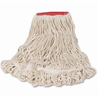 Rubbermaid String Wet Mop,18 oz.,Cotton  FGD21306WH00 - 1