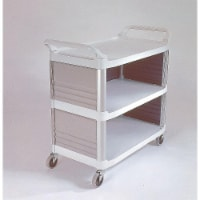 Rubbermaid Enclosed  Cart,HDPE,Off-White,300 lb.  FG409300OWHT - 1