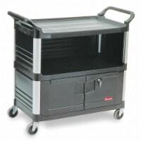Rubbermaid Enclosed  Cart,HDPE,Black,300 lb. HAWA FG409500BLA