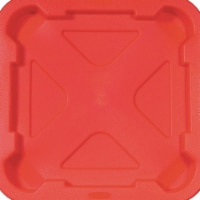 Rubbermaid Trash Can Top,Flat,Snap-On Closure,Red  FG352900RED - 1