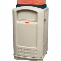 Rubbermaid Commercial Products Trash Can ,50 gal.,Beige,Plastic  FG396300BEIG - 1
