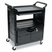 Rubbermaid Enclosed  Cart,HDPE,Black,200 lb.  FG345700BLA