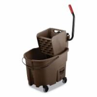 Rubbermaid Mop Bucket and Wringer,8-3/4 gal.,Brown  FG758088BRN - 1