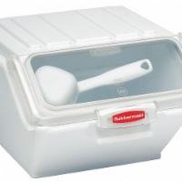 Rubbermaid Storage Bin, Includes 1/2 Cup Scoop  FG9G6000WHT - 1
